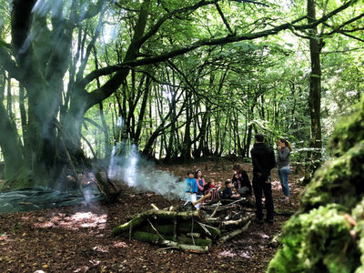 blackborough woods open fire camp cooking
