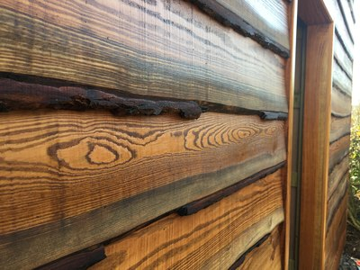 larch cladding wooden boards