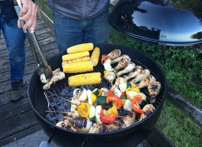 al fresco cooking kettle bbq weber barbecue eating outdoors