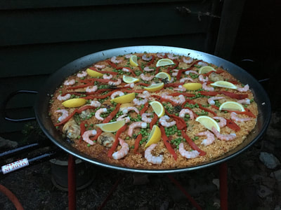 paella Spanish catering food cooking