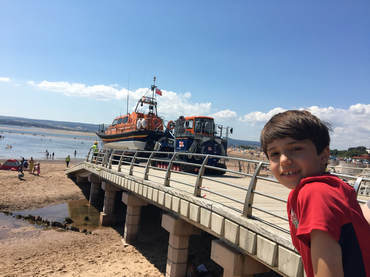 Exmouth lifeboat beach